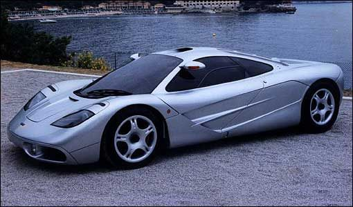 McLaren F1  Formula One chassis materials plus 6.1 BMW V12 equals world's fastest road car (for a few years, at least).