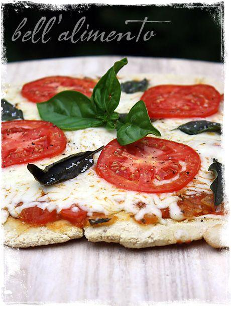 Pizza Margherita senza glutine {Grilled Gluten Free Pizza Margherita} | bell' alimento
