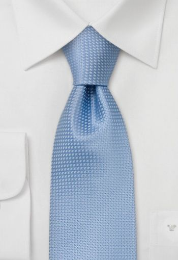 Silk tie with structure design held in baby blue and discreet grey.This fashionable tie gives your wardrobe the polished look you have been looking for. The length of this tie: 147 cm, with a width of 9 cm.