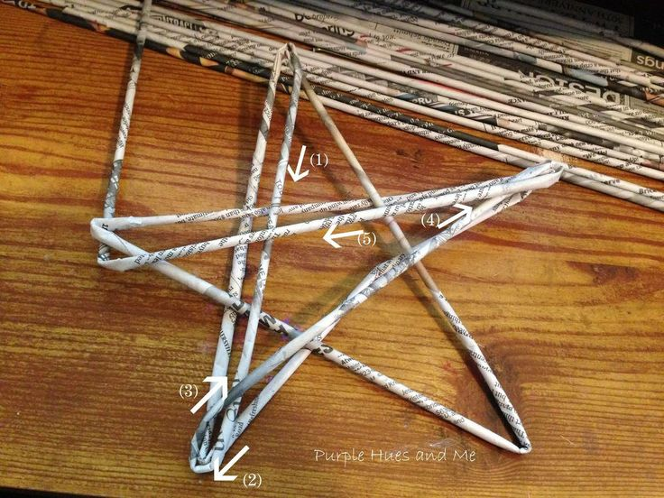 Create a Recycled Newspaper Woven Stars Tree