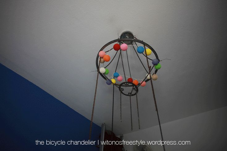 DIY Chandelier From My Old Bicycles' Parts   Bored Panda