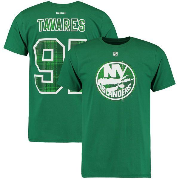 John Tavares New York Islanders Reebok St. Paddy's Name & Number T-Shirt - Kelly Green - $22.39