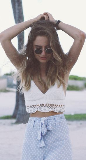 Cropped crochet top.... I NEED THIS.