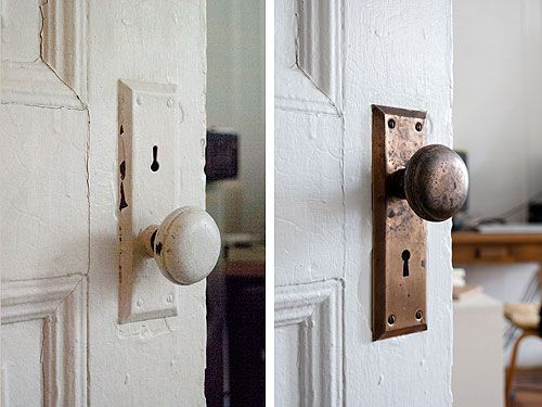 easy paint removing from vintage metal hardware...