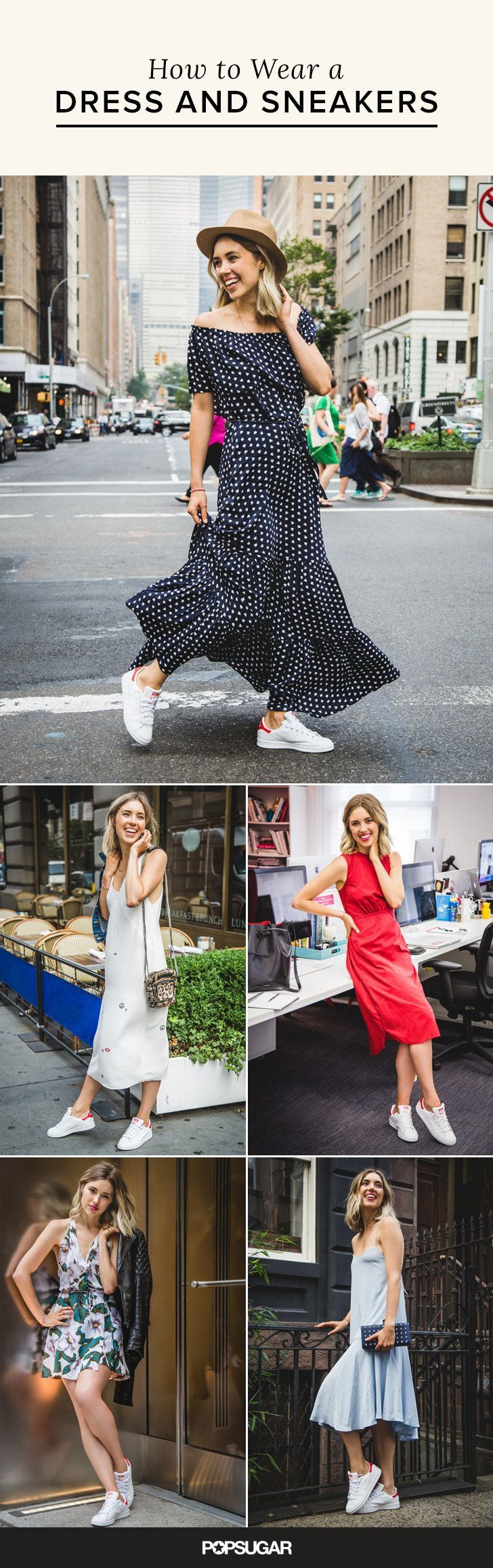 5 Foolproof Ways to Pair a Dress With Sneakers