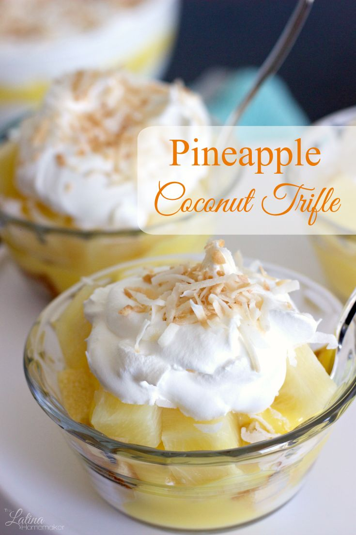 Pineapple Coconut Trifle. A simple and delicious trifle ...