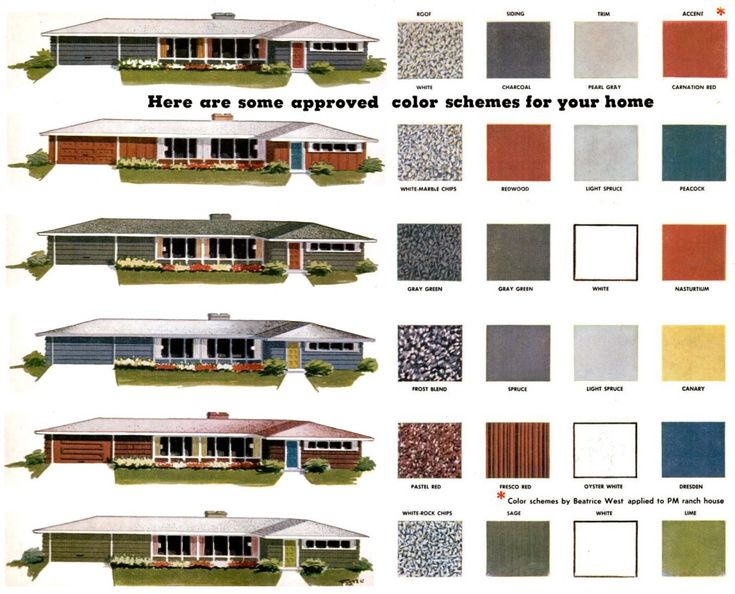 Exterior Mid Century Modern Color Palette Ranch Exterior Remodel Pinterest Paint Colors