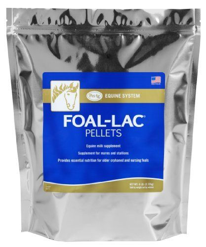 Foal-Lac® Pellets - Equine Milk Supplement, 8lb by PetAg. Save 9 Off!. $32.41. Supplement Pellets. Mare Supplement. Balanced protein and other essential nutrients for growth in foals.. Equine Milk Supplement. Foal-Lac Pellets Offers a balanced protein and other essential nutrients for growth in foals.  As a supplement to the foal's creep ration.  Foal-Lac Pellets provide milk nutrients to nursing foals at a time when its mare's milk declines in quantity and quality.  Foal-Lac Pelle...