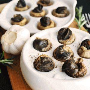 Champignons fromagés à l'escargot