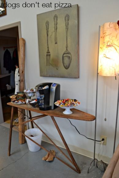 vintage-ironing-board - snack-station - Dogs Don't Eat Pizza