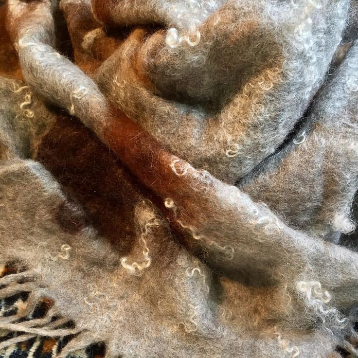 """18 Likes, 1 Comments - Medusa (@medusas_handmade) on Instagram: """"Beautiful hand #felted #Alpaca and mohair shawl...so soft and warm...Gorgeous, glistening Mohair…"""""""
