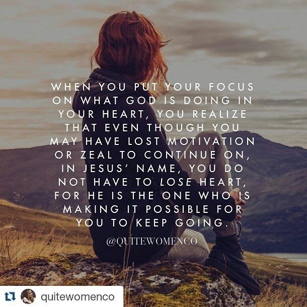 #Repost @quitewomenco #truthtelevision @thetruthontv Day 1/7: Recharging your perspective So we do not lose heart. Though our outer self is wasting away our inner self is being renewed day by day. 2 Corinthians 4:16 (NIV) Whether youre running low on energy inspiration enthusiasm the best possible thing to do in this moment is not to dwell on what youre feeling externally in your body but what God has done for you through Jesus eternally in your heart. When you put your focus on what God is…