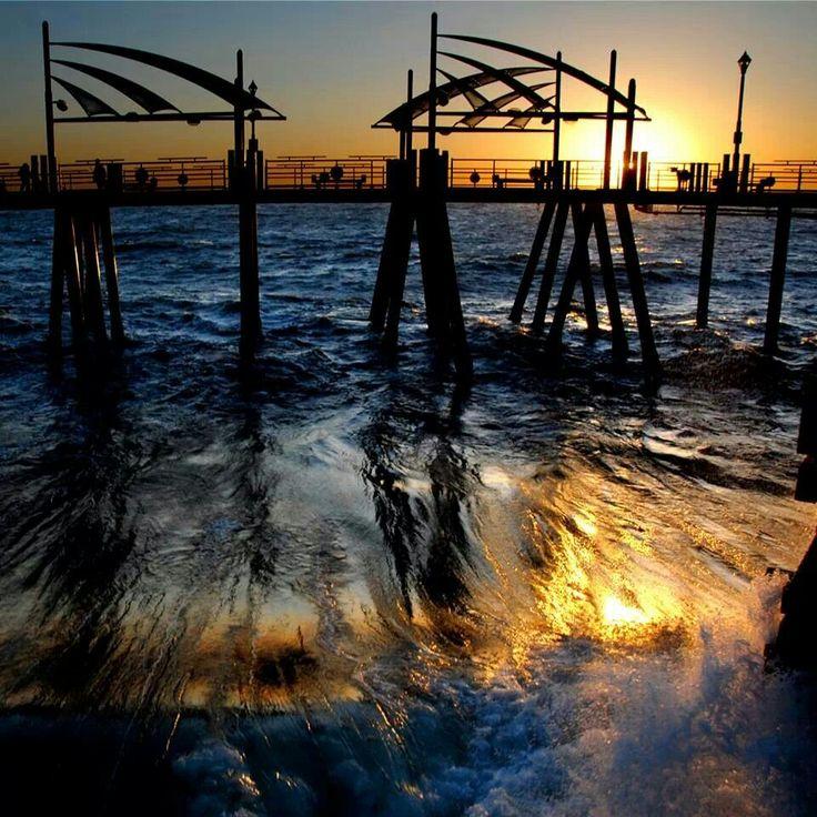 Redondo Beach Pier at Sunset Foto