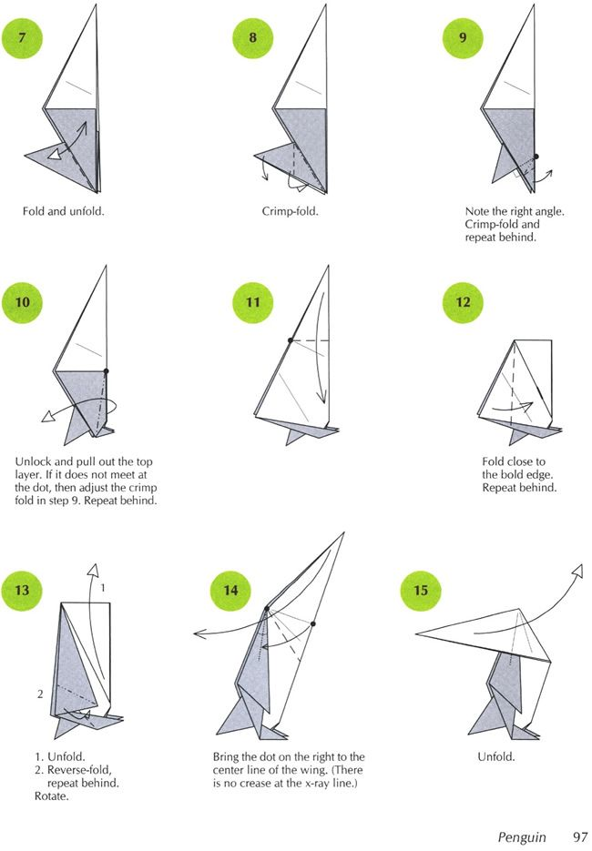 3d origami penguin instructions