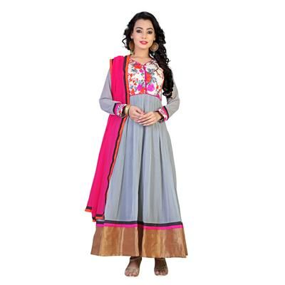 Buy The Empire Festive Wear Gray Coloured Georgette Salwar kameez by The Empire, on Paytm, Price: Rs.1999?utm_medium=pintrest