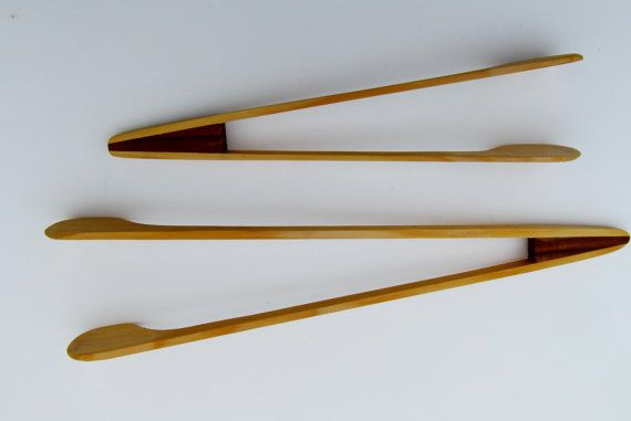 Serving Tongs made from https://www.etsy.com/listing/264861912/serving-tongs-made-from-red-and-yellow and Yellow cedar, set of two.