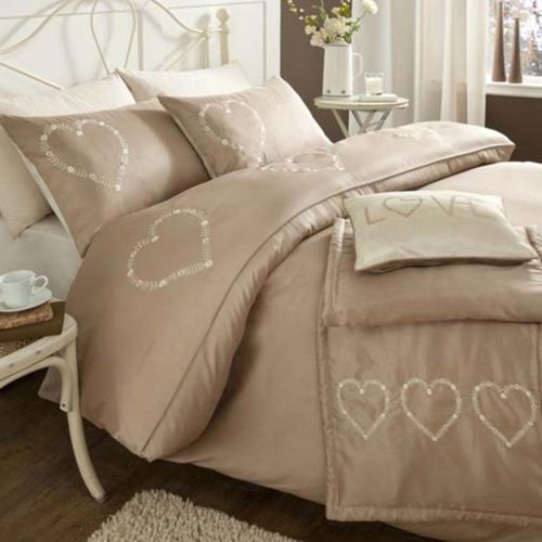 buy catherine lansfield home fine luxury collection decorative hearts bed duvet cover set from our super king duvet covers u0026 bedding sets range at tesco