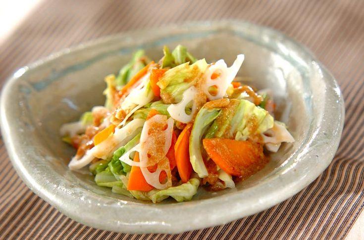 温野菜のピリ辛ゴマだれのレシピ・作り方 - 簡単プロの料理レシピ   E・レシピ