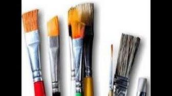 Dicas de como remover tinta dos pincéis, limpeza pesada nos nossos pincies, com Artes da Ju Baby - YouTube