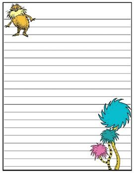 """Dr. Seuss writing papers (FREE) ......Follow for Free """"too-neat-not-to-keep"""" teaching tools & other fun stuff :)"""