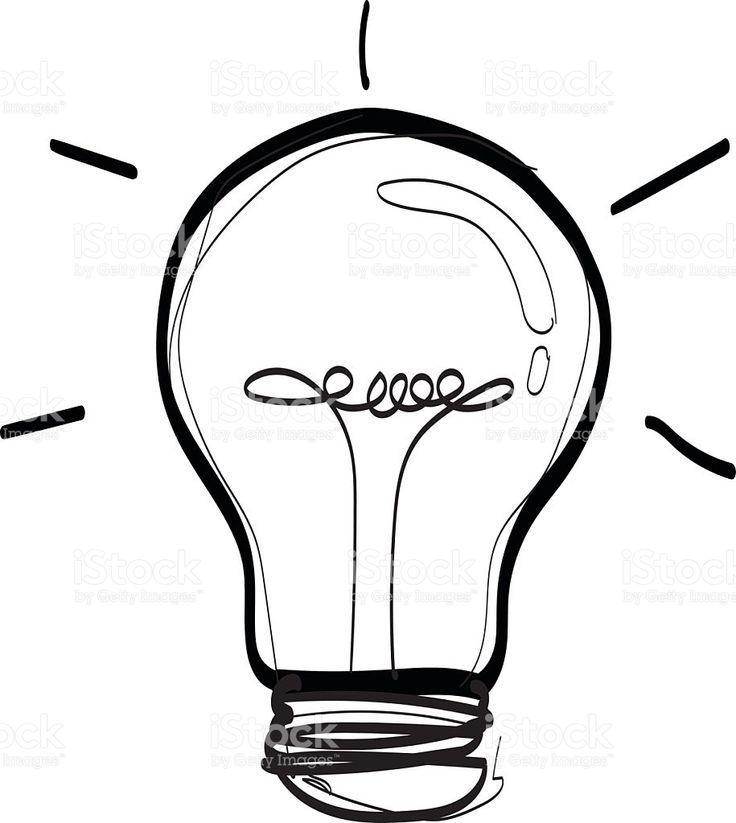 Las 25+ mejores ideas sobre Dibujo de bombilla en ...