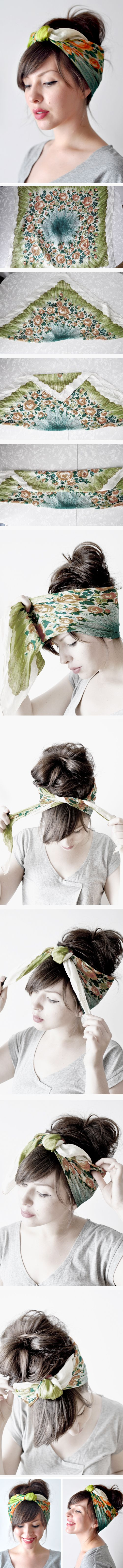 how to head scarf-do