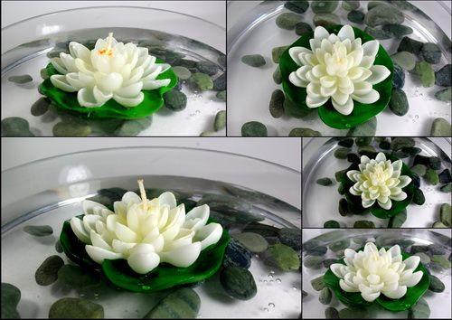 Bougie Flottante Fleur de Lotus sur Nénuphar - Blog décoration de ...