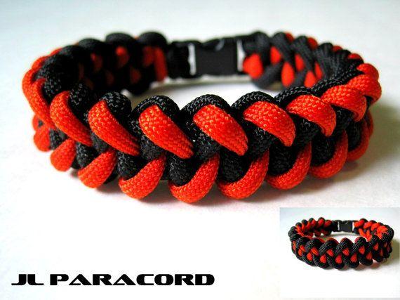 Reversible SF Giants Paracord Jawbone Bracelet by JLParacordGear