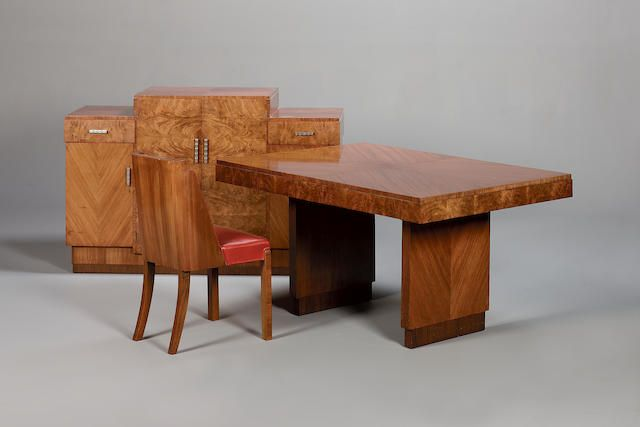 An Art Deco Dining Room Suite