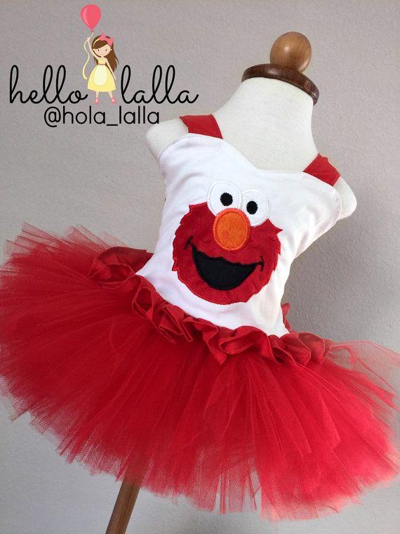 Pre-order Elmo Top and Tutu Set by Hello Lalla by hellolalla