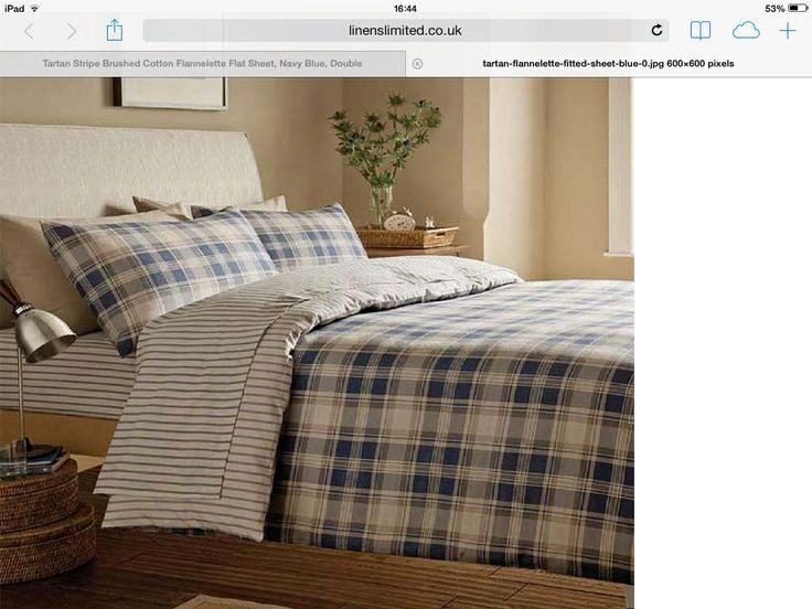 Tartan Bed Linen For A Scottish Theme Room Home