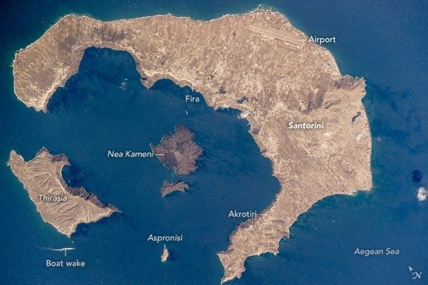 Greece images by NASA Earth Observatory