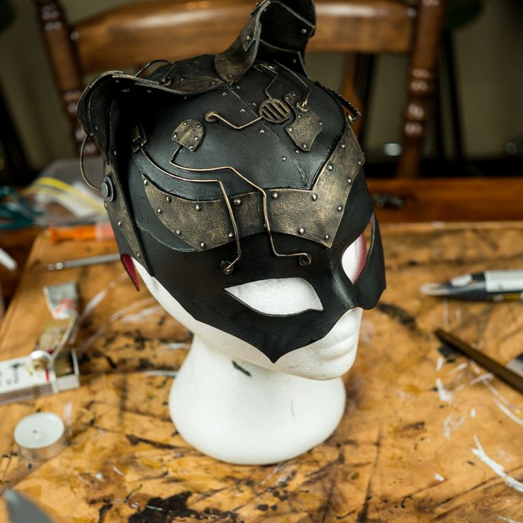 Steampunk Catwoman Mask by Lostwaxoz.deviantart.com on @deviantART