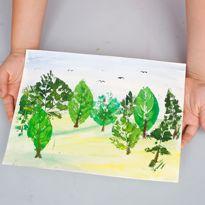 Рисуем с детьми: штампуем листьями. Шаг 5