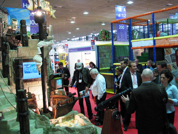 Eleven Ltd's exhibition stand at IAAPA's 2012 Euro Attractions Show in Berlin, Germany
