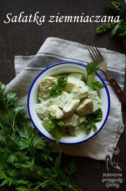 Kulinarne przygody Gatity: Sałatka ziemniaczana  z zielonym majonezem