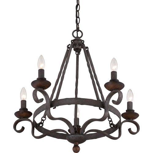 67 best chandeliers i like images on pinterest chandelier quoizel noble rustic black five light chandelier on sale mozeypictures Choice Image