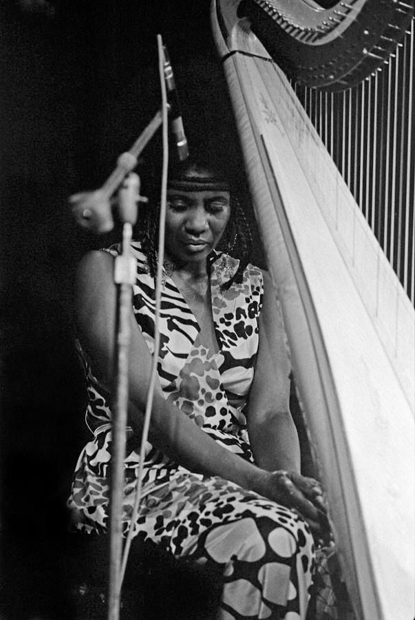 Alice Coltrane - her beloved John gave her the harp as a gift. She taught herself how to play!!!