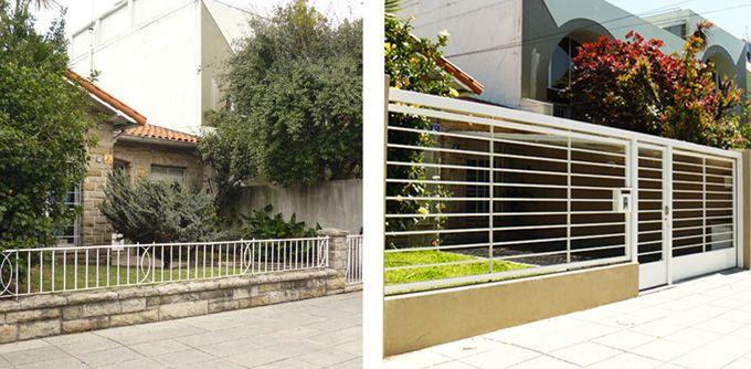 Frentes de casas con rejas y piedras buscar con google - Verjas de madera ...