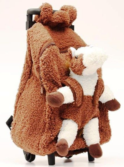 (MFW5002002) Plush Horse Brown Backpack with Removable Plush Horse