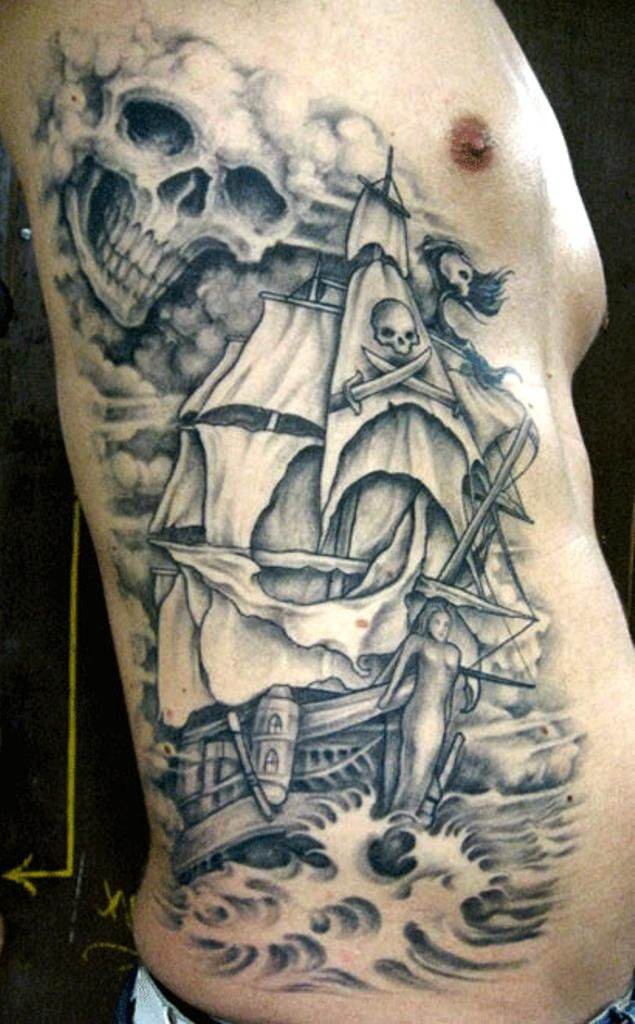 Best 25 Pirate ship tattoos ideas on Pinterest Black pirate