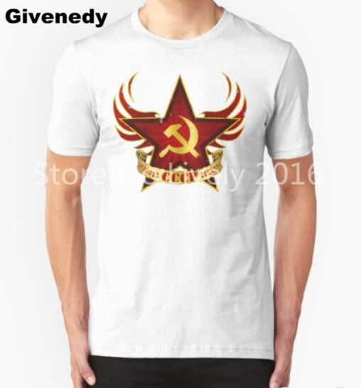 New 2016 Summer Style Printed CCCP Russian T Shirts USSR Soviet Union Tshirt KGB Moscow t Shirt Cotton Tops Tees #Affiliate