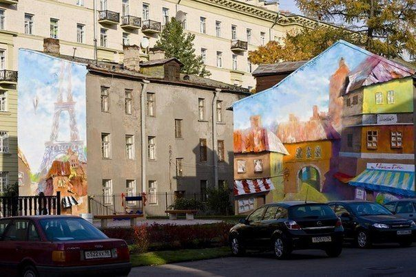Most interesting and unusual graffiti on the walls of St. Petersburg