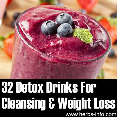 32 Detox Drinks For Cleansing And Weight Loss