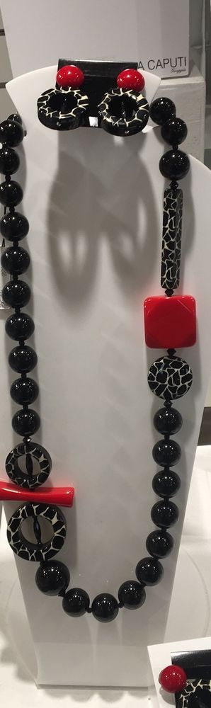 Angela Caputi Italy Red And Black Resin Designed Necklace NWT | Jewelry & Watches, Fashion Jewelry, Necklaces & Pendants | eBay!