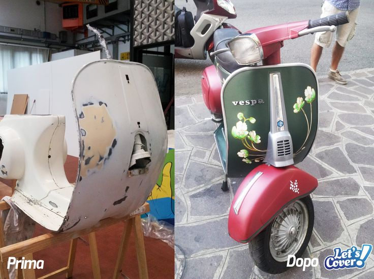 Vespa wrapped by Let's Cover. Designed by Let's Cover