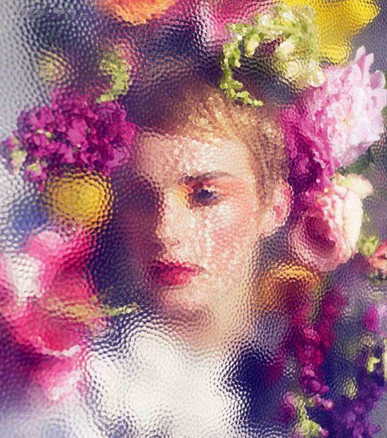 photo by Sølve Sundsbø: Glasses Flowers, Solving Sundsbo, Sølvesundsbø, Italian Vogue, Sølve Sundsbø, Flowers Fashion, Colors Palettes, Fashion Photography, Editorial Fashion
