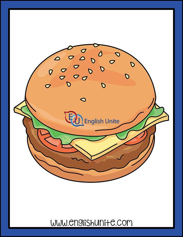 Snack Hamburger English Unite Clip Art Kids Clipart Food Clips