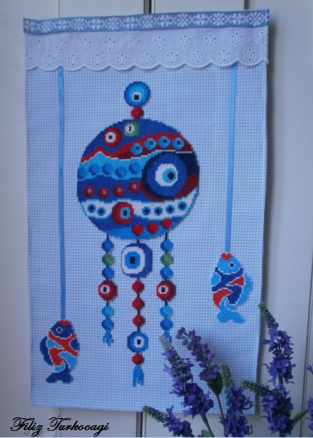 Evil eye. By popular demand. Designed and stitched by Filiz Türkocağı