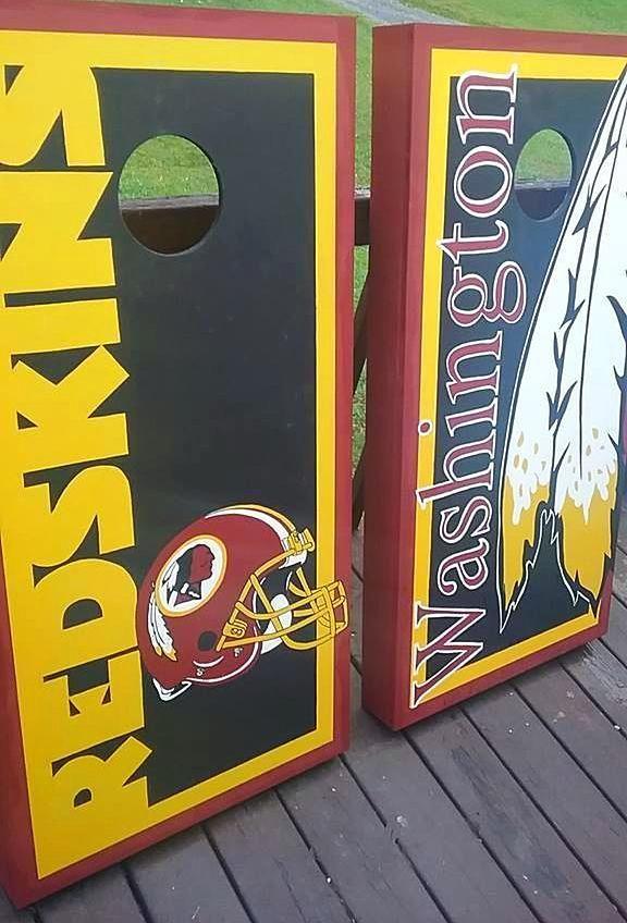 Swell Washington Redskins Cornhole Board Set Hand Painted Uwap Interior Chair Design Uwaporg